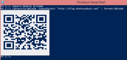 Creating QR Codes in PowerShell